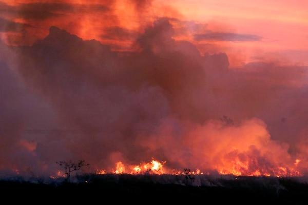 Fotografía real de uno de los incendios de agosto de 2019 en el Amazonas. AP Photo.