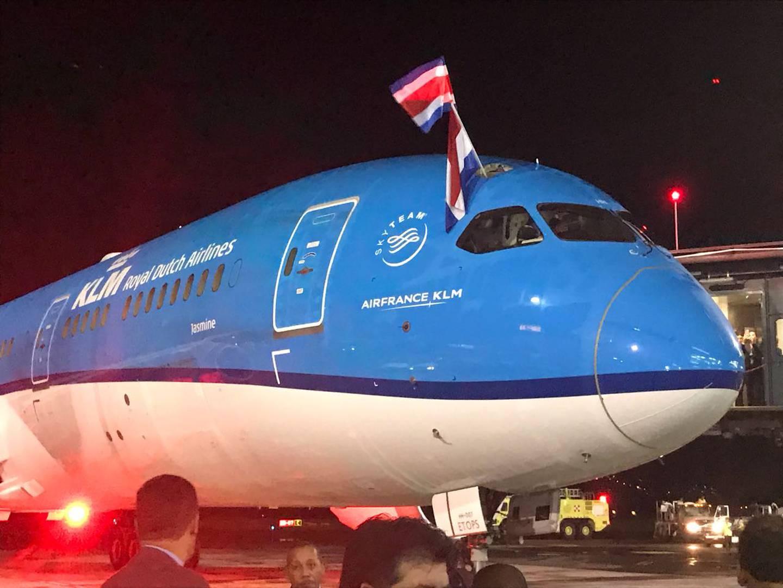 La aerolínea KLM anunció que retomará, el próximo 20 de junio, tres vuelos semanales al país. La empresa tenía previsto hacerlo hasta octubre próximo. Foto: Cortesía ICT.