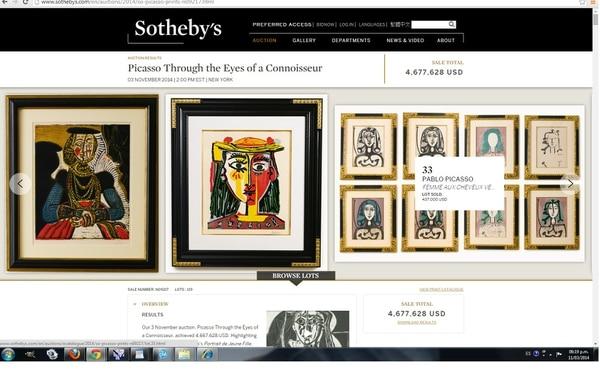 Pablo Picasso sigue siendo uno de los artistas favoritos de los coleccionistas de arte.