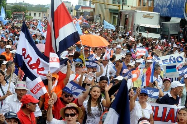 Errores de pago generaron una huelga en el 2014. | ARCHIVO