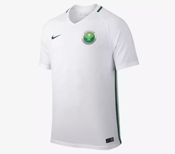 1a94617bd20c3 La camiseta del uniforme principal de Arabia Saudita para el Mundial de  Rusia 2018 se ha