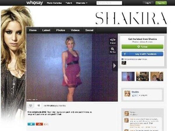 Esta es la foto que Shakira compartió desde su cuenta de Twitter. | WWW.WHOSAY.COM