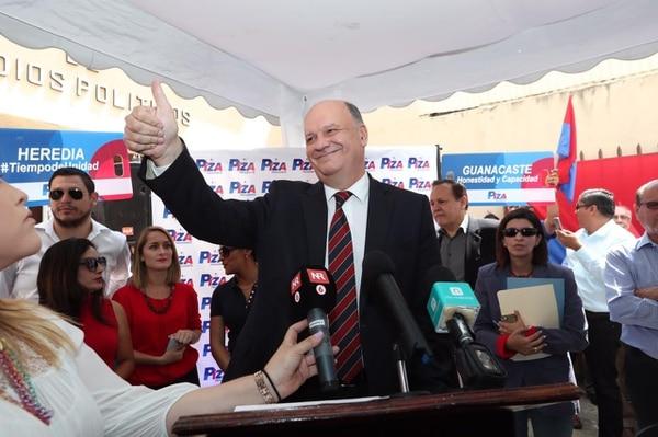 El expresidente de la Caja, Rodolfo Piza, aspira a ser el candidato presidencial del PUSC para las elecciones de febrero del 2018.