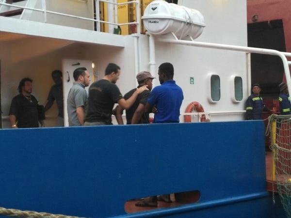 Una vez que llegó a Limón, González Presida quedó a las órdenes de los agentes del Organismo de Investigación Judicial (OIJ) de Limón.
