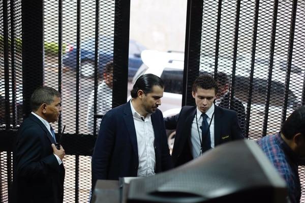 El empresario Juan Carlos Bolaños, de Sinocem Costa Rica, llegó por sus propios medios a la Asamblea Legislativa, sin la intervención de la Fuerza Pública.