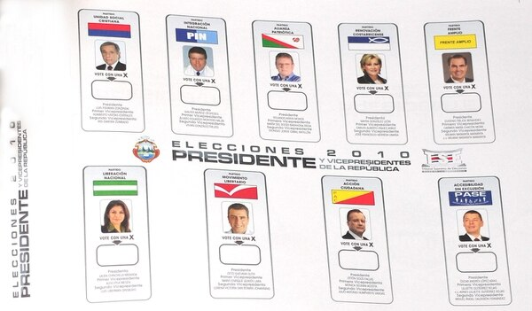 Los costarricenses que voten en el exterior observarán en las pantallas de las computadoras una papeleta similar a la que se utilizó en las elecciones presidenciales del 2010. La diferencia es que la marcarán digitalmente a la hora de emitir su voto.