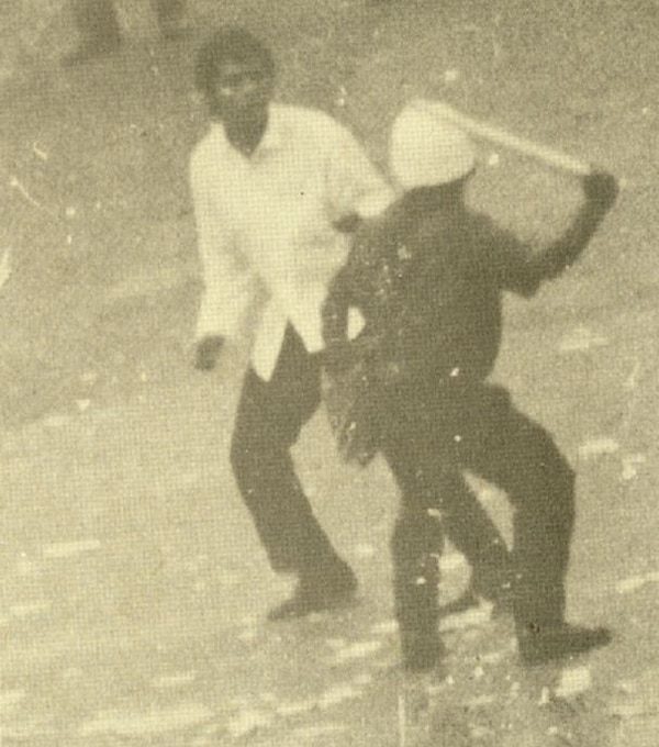 Las manifestaciones se tornaron violentas.
