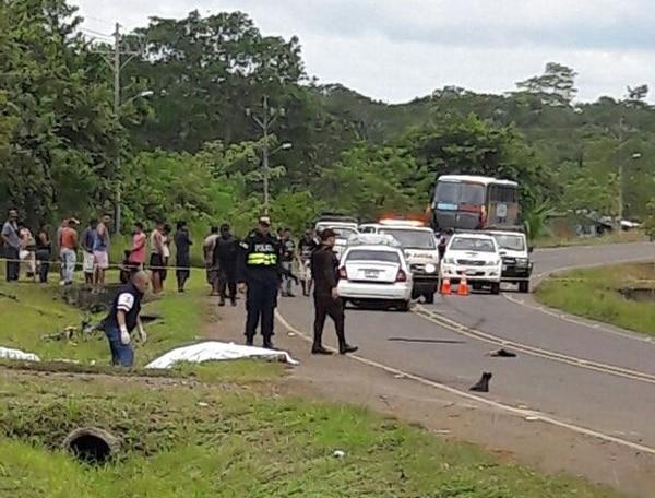 El accidente se produjo frente a la plaza de fútbol de Tablillas de Los Chiles.