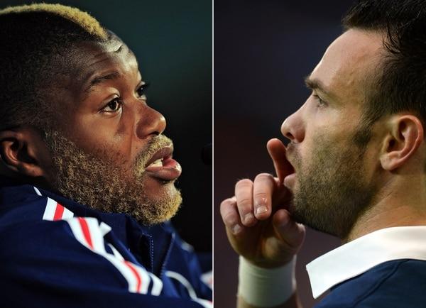 Cissé y Valbuena, excompañeros en Francia.