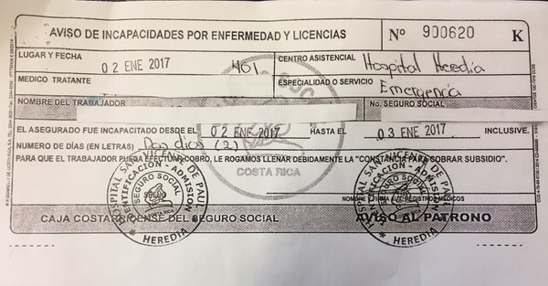 La semejanza que tenía la letra en la boleta de varias incapacidades, despertó las sospechas de las autoridades del Ministerio de Seguridad.