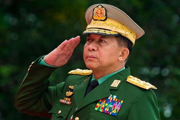 General Min Aung Hlaing, comandante en jefe de las Fuerzas Armadas de Birmania.