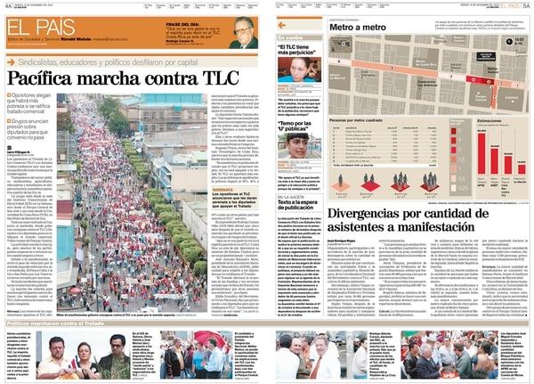 Así se veía la portada del viernes 8 de noviembre del 2005 (dos años antes del referéndum).