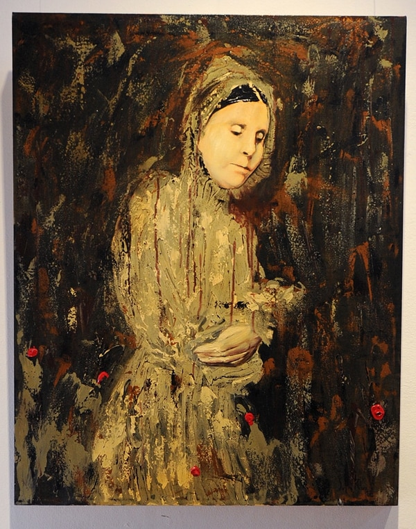 3. Un lejano parentesco. Pintura ejecutada con técnica mixta por Sofía Ruiz en el año 2008.