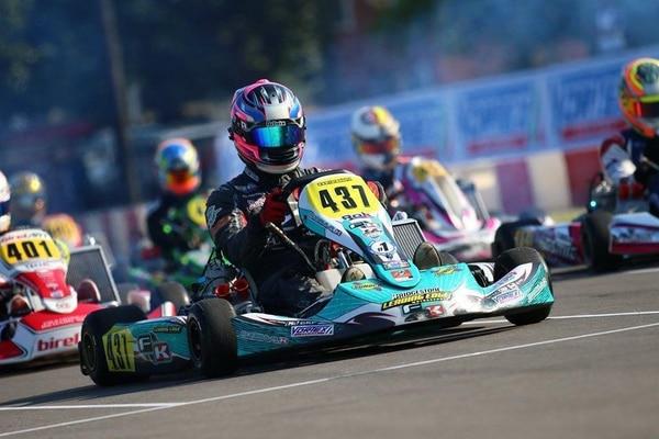El piloto Danny Formal ganó el fin de semana el campeonato de kartismo Rok Cup Festival, en los Estados Unidos En la final salió en el quinto puesto y logró remontar hasta el primer lugar. Fotografía. Donald Formal
