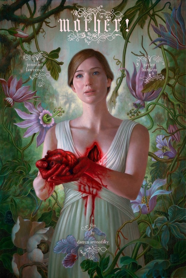 Póster de '¡Madre!', cinta en que la protagonista es una alegoría de la Tierra.