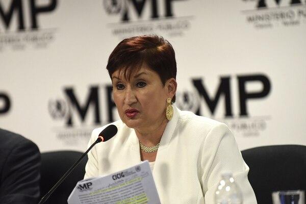 Thelma Aldana ha librado una fuerte batalla contra la corrupción, en asocio con la Cicig.