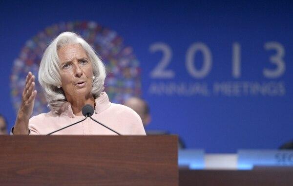 Christine Lagarde, directora del FMI, abogó por una fiscalización impositiva más justa para equilibrar las finanzas públicas. | EFE