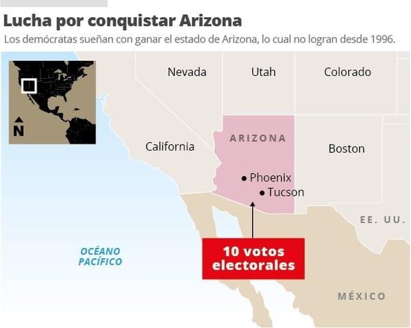 Mapa de ubicación Arizona.