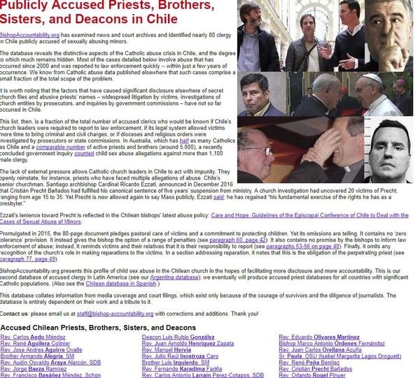 """Revelan lista de 78 clérigos denunciados por abuso"""""""