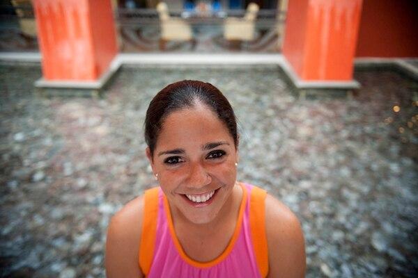 Gloriana Soto es una golfista reconocida, sin embargo se considera una mujer tímida.   FABIÁN SOTO.