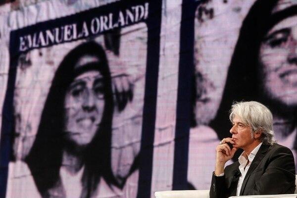 Pietro Orlandi, hermano de Emanuela, acudió el miércoles 31 de octubre del 2018 a un programa de televisión. La joven desapareció en 1983, y la familia presiona por información sobre un cuerpo hallado en la nunciatura apostólica en Roma.