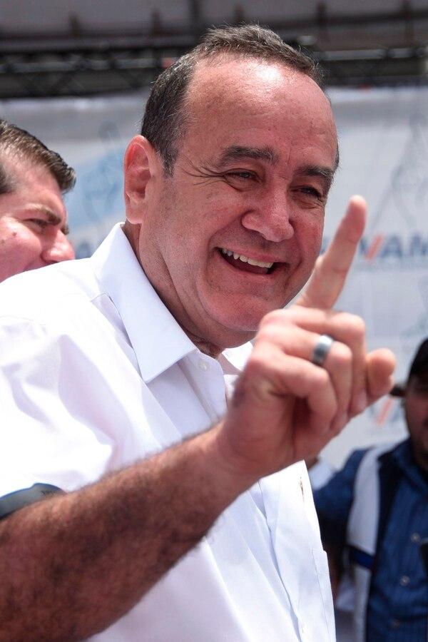 El candidato presidencial derechista, Alejandro Giammattei, cerró la campaña electoral este domingo 4 de agosto del 2019 en Ciudad de Guatemala.