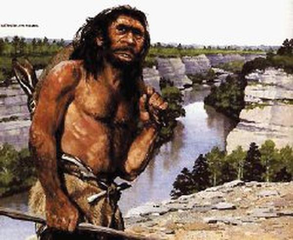 Imagen hipotética del hombre de Neanderthal, hecha con base en el estudio de sus huesos. Archivo LN