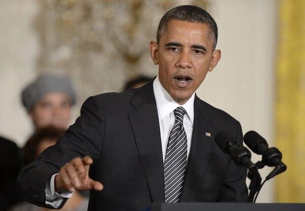 El presidente Barack Obama, ayer durante un discurso sobre inmigración en el ala oeste de la Casa Blanca, en Washington. | EFE