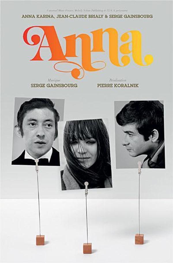 Póster oficial de 'Anna' (1967), la cinta que se tomará los reflectores de la Alianza Francesa. Archivo