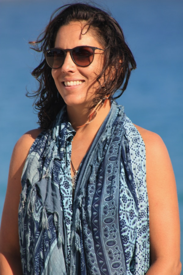 Ana Lucía Fariña Vargas, costarricense que vive en Bali, Indonesia.