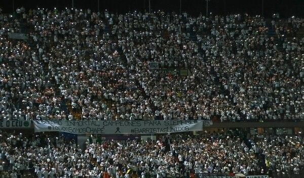 Los aficionados del Atlético Nacional llenaron el esatdio Atanasio Girardot