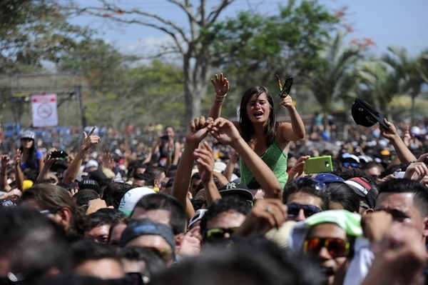 El dancehall y el reggae . se contagiaron entre los presentes y mantuvieron vivo el baile durante todo el concierto de Sean Paul.