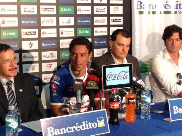 Christian Bolaños vistió por primera vez el uniforme del Cartaginés.