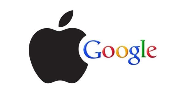 apple, google, logos