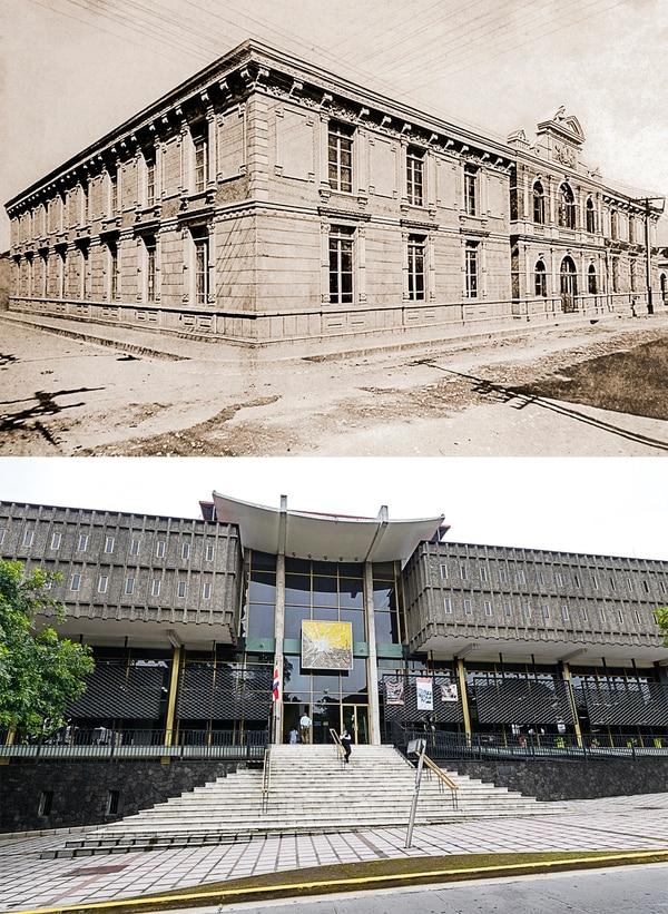 Biblioteca Nacional en 1910 y en 2017.