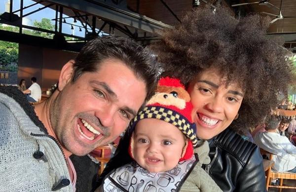 El actos mexicano Ferdinando Valencia y la actriz costarricense Brenda Kellerman viven a plenitud cada instante junto a su bebé Tadeo. Foto: Instagram