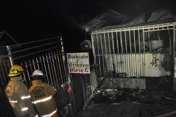 Los apagafuegos evitaron que las llamas se extendieran a otras propiedades cercanas. Francisco Barrantes
