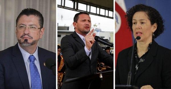 Dejan sus cargos Rodrigo Chaves, Luis Adrián Salazar y Nancy Marín.