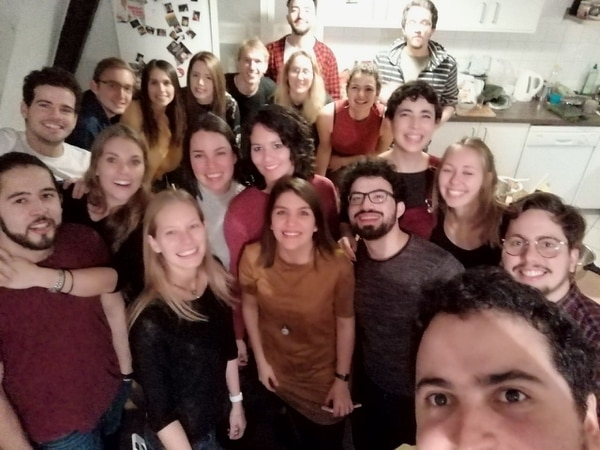 Estudiantes costarricenses se reunieron en la ciudad alemana de Helderberg, el 9 de diciembre del 2017. Fotografía: Santiago Casas Castro