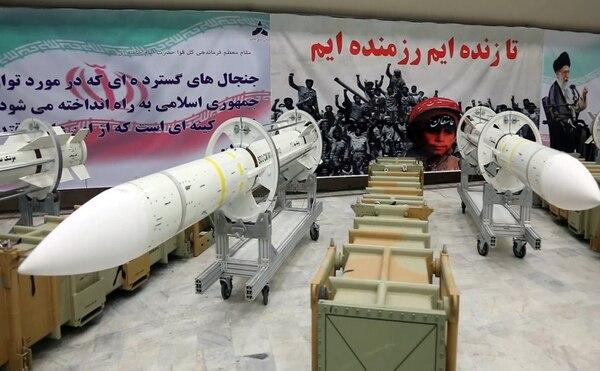 El Ministerio de Defensa iraní publicó la fotografía de nuevos misiles de defensa aérea Sayyad-3, el 22 de julio del 2017.