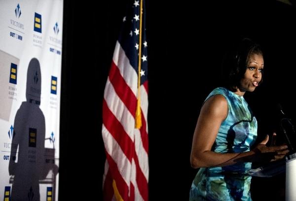 La esposa de Barack Obama confrontó a una activista en pleno discurso.