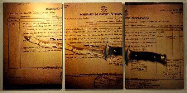 De Inventario . Puñal con empuñadura negro usado en un homicidio en 1999.