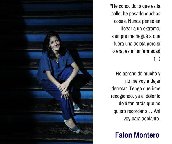 Falon Montero, de 33 años, quien asiste al Centro Dormitorio desde hace un mes.