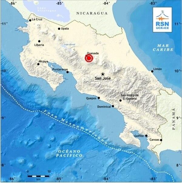 El último temblor sentido fue a las 9: 15 a. m. y tuvo una magnitud de 4 grados(MW). | RSN