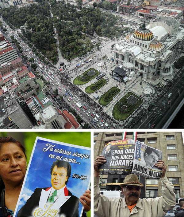 Homenaje a Juan Gabriel en el Palacio de Bellas Artes de Ciudad de México. / Fotos: AP , AFP y El Universal/GDA