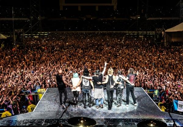 El segundo concierto de Guns N' Roses en nuestro país no sucedió. Primero se iban a presentar en marzo, luego se reprogramó para noviembre, pero finalmente la banda decidió cancelar la gira por Latinoamérica este año debido a la pandemia. Foto: Archivo.