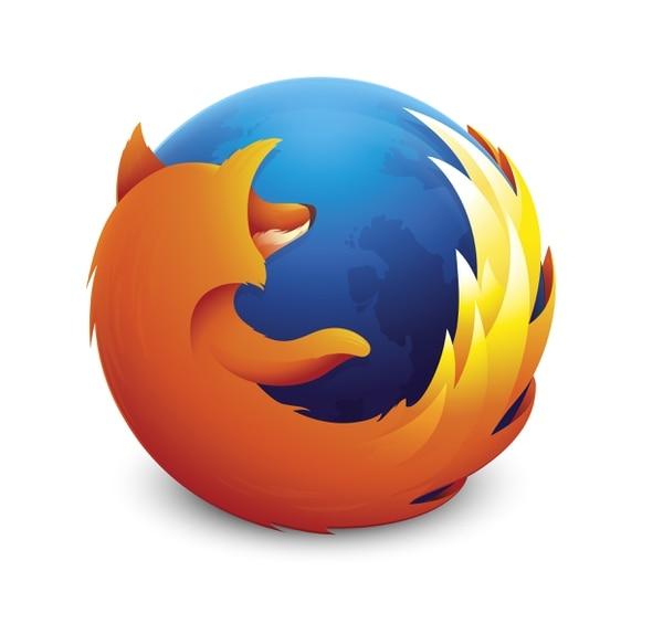 El logotipo del popular navegador Firefox.
