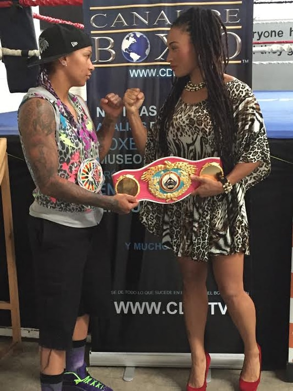 La estadounidense Kali Reis tuvo este martes su pimer cara a cara con la boxeadora costarricense Hanna Gabriel.
