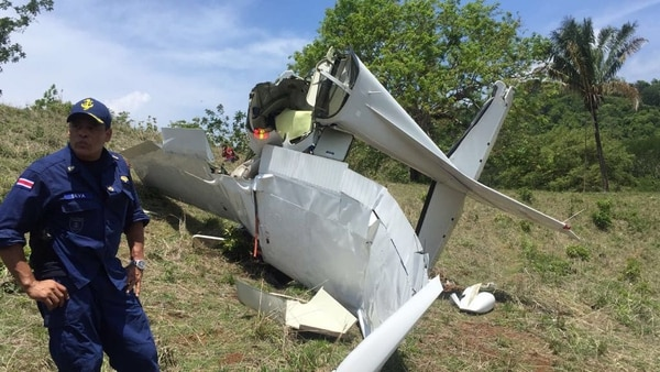 La aeronave habría colisionado contra un cerro y se habría desplomado. Foto: Cortesía de MSP