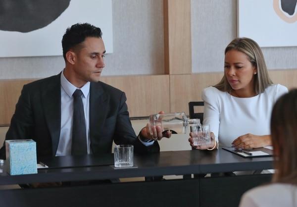 Keylor Navas y su esposa Andrea Salas, en la inauguración de la fundación. Fotografía: John Durán
